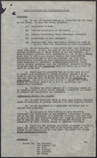 Bread Rationing and Preliminary Action, May 1, 1946