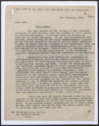 Letter from A.R. Manktelow to Cleveland Fyfe re: Farm Sunday, February 7, 1944