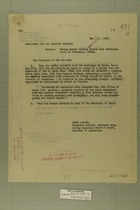 Memo from Henry Jervey re: Firing across Mexican Border near Guadalupe State of Chihuahua, Mexico, May 22, 1918