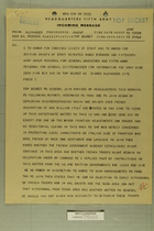 Incoming Message from Field Marshall Alexander to AGWAR for Combined Chiefs of Staff, June 9, 1945 [Copy]