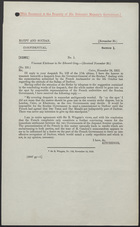 Letter from Viscount Kitchener to Sir Edward Grey, November 24, 1912