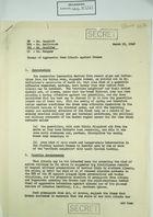 Memo from P. A. Mangano to Mr. Bancroft et al. re: Threat of Aggression from Albania Against Greece, March 19, 1948