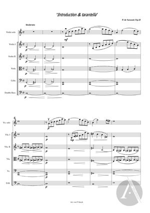 Introduction Tarantella Arranged For Solo Violin And