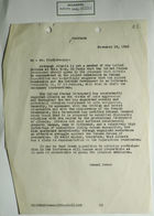 Memo from Samuel Reber to Mr. Kindleberger re: Albania's Representation on Allied Commission on German Reparations, November 16, 1945