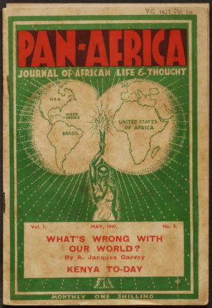 Pan-Africa Journal Of African Life & Thought, May 1947 (Pg.Int.Pa.1A)