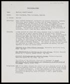 Curriculum vitae: Arnold Leonard Epstein
