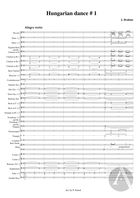 Hungarian Dance No. 1, arranged for Symphonic Band, WoO 1
