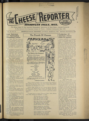 Cheese Reporter, Vol. 62, no. 27, Saturday, March 12, 1938