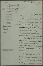 Draft of Letter from Philip Cunliffe-Lister re: Letter from Marcus Garvey on Proposed Celebrations, June 21, 1934