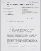 Letter from Secretary, IAI, to all members of the Executive Council, 24 May 1972