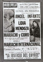 Flyer for Lydia Mendoza and Others Performing at the Million Dollar Theater.