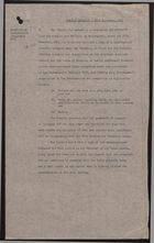 Cabinet Decision re: Employment Vouchers, November 27, 1961