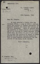 Letter to J. Congdon re: Finding Employment for Jamaican Workers Who Arrived on the SS
