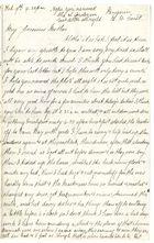 Letter From Clara Elizabeth Brooks, February 9, 1886