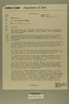 Telegram from James S. Moose, U.S. Ambassador to Syria, to Secretary of State, March 19, 1954