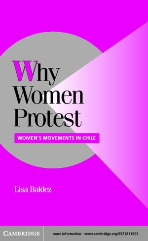 Cambridge Studies in Comparative Politics, Why Women Protest: Women's Movements in Chile