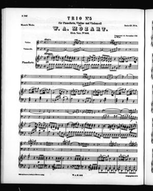 Trio No. 5 für Pianoforte, Violine, und Violoncell