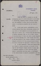 Confidential Letter from Acting Governor Huggins to Malcolm MacDonald re: Rejection of Proposals by Major Orde-Browne, April 5, 1939