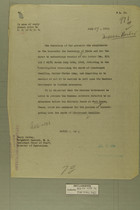 Memo from Henry Jervey to the Secretary of State, July 17, 1918