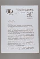 Letter from Mildred Persinger to Elinor Barber, October 22, 1978