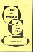 African Studies Association of the West Indies, Bulletin no. 8, December 1975