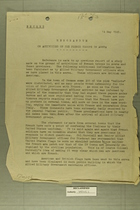 Memorandum on Activities of the French Troops in Aosta, May 14, 1945