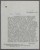 Letter from Iain Macleod to Harold MacMillan Advising Smog Warning to Public via BBC, and Issuance of Smog Masks, November, 1953