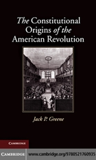 New Histories of American Law, The Constitutional Origins of the American Revolution