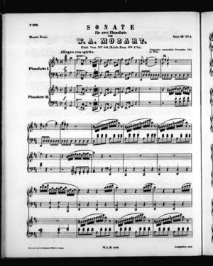 Sonate für zwei pianoforte, K. 448, D Major