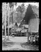 Toh Blat's House in village of Ban-Sai Kau (Siamese Malay States)