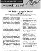 Research in Brief: The Status of Women in Kansas, Highlights, 2002