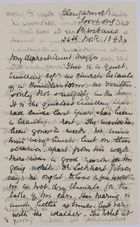 Partial Letter from Jessie Love to Maggie Jack, November 26, 1893