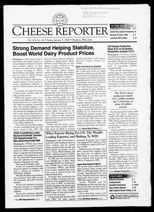 Cheese Reporter, Vol. 124, No. 26, January 7, 2000