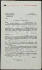 Letter from Sir Edward Grey to Viscount Kitchener, January 8, 1913
