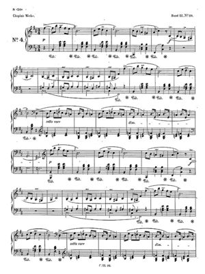 Mazurka no. 25, B.115, Op. 33/4, B Minor