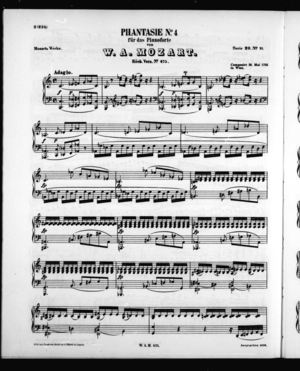 Phantasie No. 4 für das Pianoforte