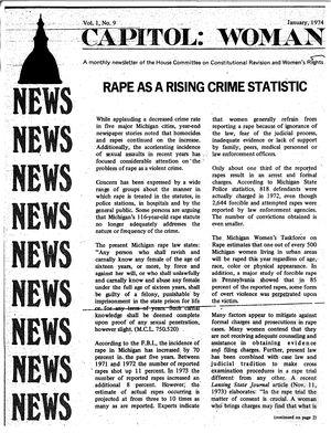 Capitol: Woman, vol. 1 no. 9, January 1974