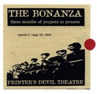 Brochure for Pensacola by Caridad Svich, as Part of Twelve-Week Workshop Series The Bonanza, Produced by Printer's Devil Theatre, Seattle, WA, April 17-18, 2000.