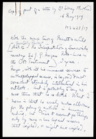 Copy of part of a letter by Dr Sidney Hartland, 16 May 1919