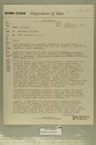 Telegram from William E. Cole, Jr. in Jerusalem to Secretary of State, December 27, 1956