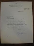 Polaroid Corporation to Yale University, September 19, 1961