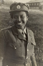 West Indian Member of Auxiliary Territorial Service (ATS), 1943-47 (b/w photo)