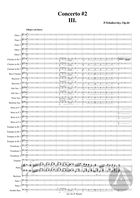 Piano Concerto No. 2, arranged for Piano and Band: Movement 3, Op. 44, G Major