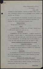 Statement of Allan Thompson to Labour Commissioner's Office, St. Vincent, June, 1939