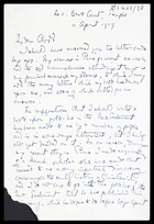 JGF to Edward Clodd, 19 Apr 1919