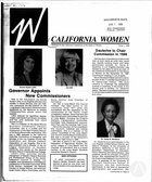 California Women: Bulletin, Issue 1, 1986