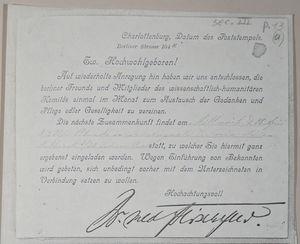 Charlottenburg, Datum des Poststempels