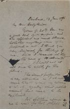 Letter from Robert Logan Jack to William Hodgkinson, June 13, 1896