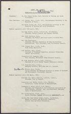 Clean Air Council Membership List as of 24th February, 1961