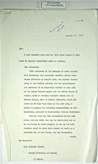 Letter from Secretary of State Herter to Juan Callardo Moreno re: Criteria for Establishment & Operation of Inspection Stations at U.S.-Mex. Border, August 21, 1959